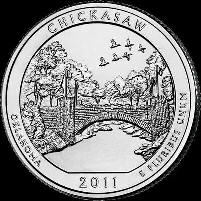 "2011 D Chickasaw National Park Quarter Oklahoma ""Brilliant Uncirculated"" ATB"