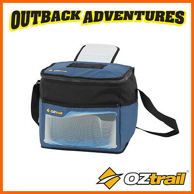 Oztrail 24 Can Cooler Bag Blue Stowaway Collapsible Cooler Picnic Camping Bag