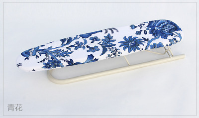 Sleeve Collar Ironing Board(New)-- Blue Flowers Patterned--Foldable--Extra Long
