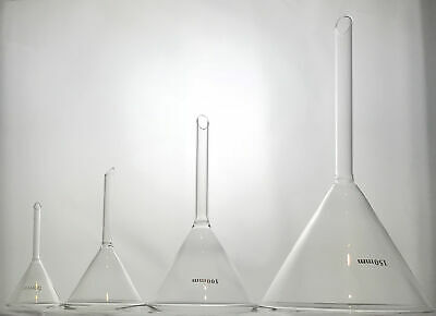Glass Filter Funnel 50/75/100/150mm Diameter Borosilicate - Chemistry Laboratory