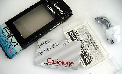 New Casio Vintage AM Credit Card Size Casiotone Radio RD-20 with Earphone Manual