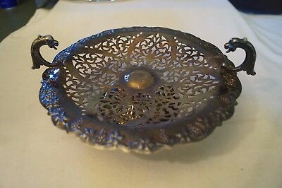 Collectable - Vintage -  Renown - Silver Plated - Ornamental Pedestal Tray