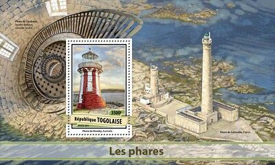 Togo 2017 MNH Lighthouses Hornby Lighthouse 1v S/S Architecture Stamps