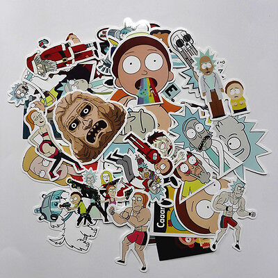 Rick And Morty 35Pcs/lot Funny Stickers American Drama Decal Luggage Fridge Car