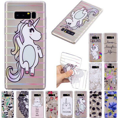 Ultra Thin TPU Clear Pattern Silicone Back Case Cover For iPhone Huawei Samsung