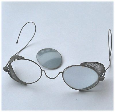 wire rimmed Vintage safety spectacles glasses metal some rust