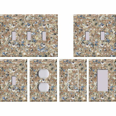 Faux Granite Pattern 5 Stone Texture - Light Switch Covers Home Decor Outlet
