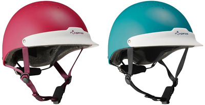 Fouganza Horse Riding Helmet Hat Ventilated Adjustable All Sizes Pink Turquoise