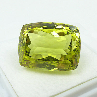 31.63 ct  Edler 20 x 15.3 mm Antik Facette Lemon Quarz aus Brasilien