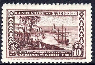 ALGERIA	SG 106	1930	10f + 10f African International Philatelic Exh.		MH