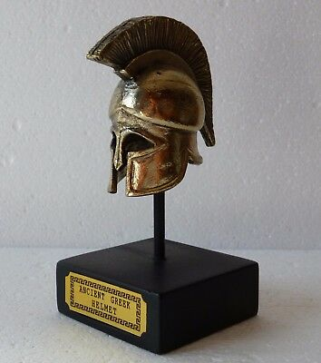 "Greece Metal Ancient Greek Warrior Helmet 4.35"" Collectible Decor Art 0066"