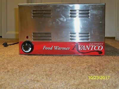 "Avantco W50 12"" x 20"" Full Size Electric Countertop Food Warmer -120V,1200W"