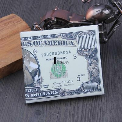 New Synthetic Leather Dollars Printed Wallet Purse Organizer Wallet Card ILOE