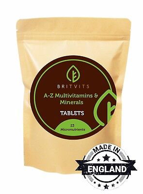 A-Z Multivitamins and Minerals 30-60-90-120-180-250-500-1000 Tablets Pills