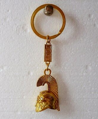 Ancient Greek Themed Keyring Greek Warrior Helmet Key ring !