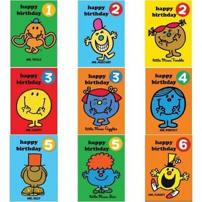 MR MEN HAPPY BIRTHDAY PERSONALISED 7.5 INCH EDIBLE CAKE TOPPER BO84