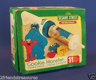 Sesame Street Cookie Press Hamilton Beach Discs Instructions Parts Only