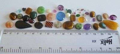 Useful Job Lot 50+ Mixed GEMSTONES from Scrap Silver/Gold Jewellery Repair #3