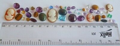 Useful Job Lot 50+ Mixed GEMSTONES from Scrap Silver/Gold Jewellery Repair #6