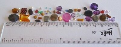 Useful Job Lot 50+ Mixed GEMSTONES from Scrap Silver/Gold Jewellery Repair #8