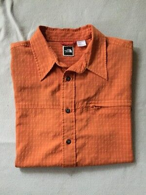 "Hemd-Outdoor""THE NORTH FACE""Gr.XL-Orange-Atmungsaktiv-kurzarm-"