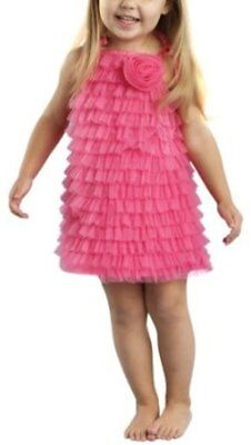 Mud Pie Baby-girls Newborn Chiffon Ruffle Dress, 0-6 months