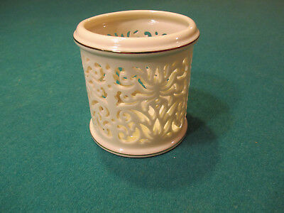 Lenox Fine China Candle Holder, Pierced China Votive with 2, 24K Gold Pinstripes