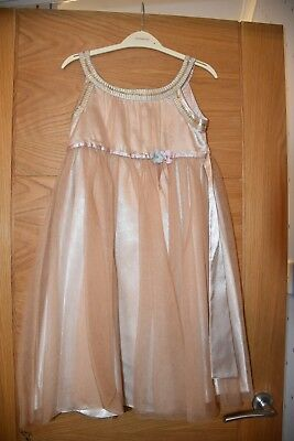 Girls Monsoon party Dress Age 9 Taupe
