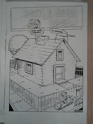 """Mexican HOMER PIGEON ORIGINAL ART COMPLETE 12 PAGE STORY 9"""" x 14"""" size Lantz"""