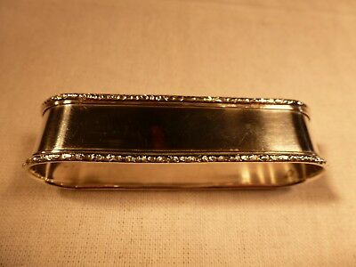 "Vintage Lunt Sterling Silver 3"" Oval Napkin Ring William & Mary"