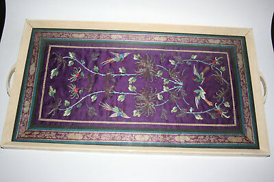 Antique/Old Chinese Silk Embroidery Flowers Picture - Framed & Glazed