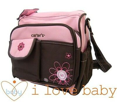 Small Flower Baby Diaper Nappy Changing Bag Pink Mummy Outdoor Shoulder Tote