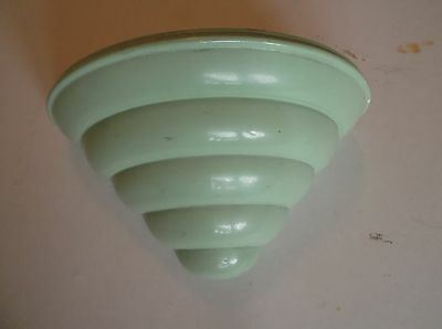 Wall Pocket Deco Green Glazed orig liner