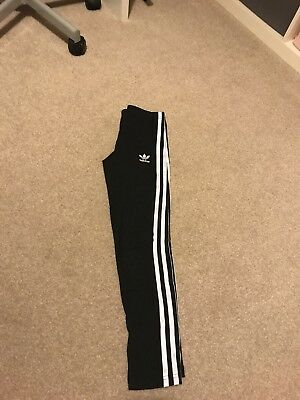 Girls Adidas Originals Black Leggings Age 9-10 Years Worn Twice
