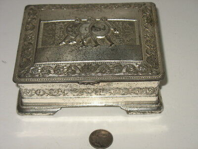 Metal Coin Stamp Pin Box Made in Occupied Japan Roman Soldier Decoration