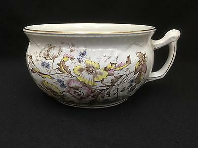 Lovely Antique Ironstone Chamber Pot Transferware Flowers Dunn Bennett England