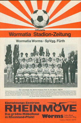 Stadionheft 1981  Wormatia Worms - SpVgg. Fürth