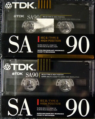 TDK SA C-90 -NEU- MC Tape Cassetten Typ II Chrome aus 1990