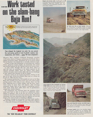 1962 Chevrolet: Work Tested On the Slam Bang Baja Run Vintage Print Ad