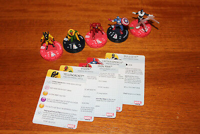 5 Heroclix Civil War Storyline Organized Play Bullseye, Vision, Yellowjacket ua