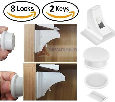 Magnetic Safety Invisible Cupboard Lock Baby Child Pet Proof Drawer Security