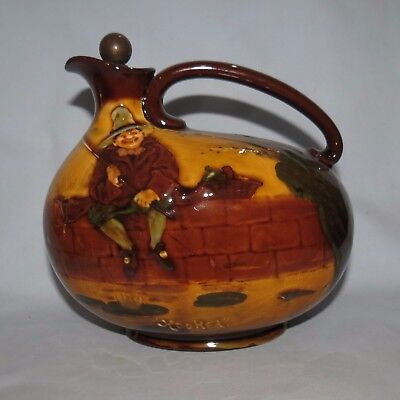 very rare Royal Doulton Kingsware Fishing Hooked Decanter Greenlees with stopper