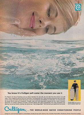 1965 Culligan: Soft Water the Moment You Use It Vintage Print Ad