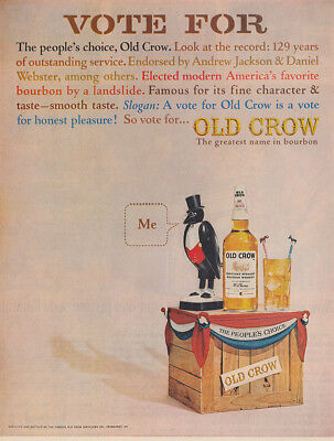 1964 Old Crow: Vote for the Peoples Choice Vintage Print Ad