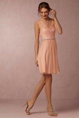 NEW - LINA BRIDESMAID DRESS from BHLDN in Rose SIze 0 GOWN