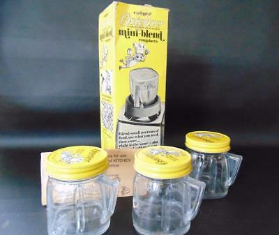 Osterizer Mini-Blend Container Set of 3 Oster Blender Containers 8 oz