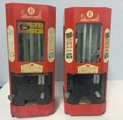 SELECT O VEND CANDY AND GUM VENDING MACHINE 2 Vending machines AS IS FOR PARTS