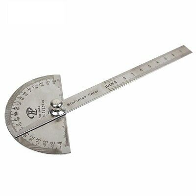 Round Protractor Angle Finder Rotary Measuring Ruler Machinist Tool Craftsman
