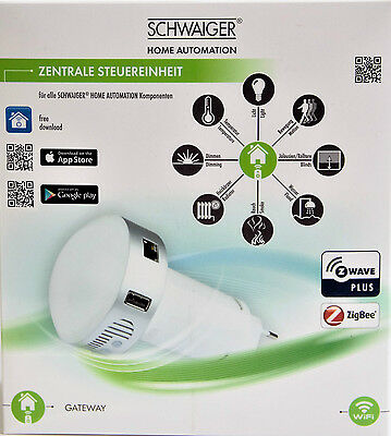 Schwaiger HA101 Gateway Steuerzentrale HOME AUTOMATION Hausautomation Haus SMART