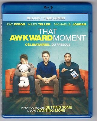 That Awkward Moment (Blu-ray/Dvd, 2014, Canadian) Zac Efron